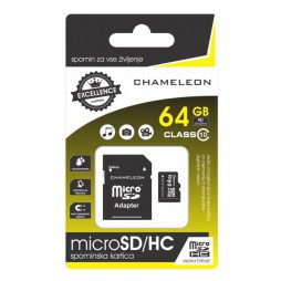 Chameleon Micro SD/HC Spominska kartica 64GB + adapter Class 10