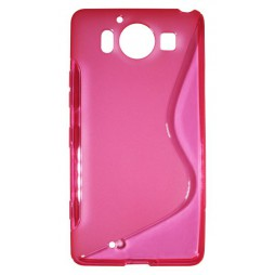 Microsoft Lumia 950 - Gumiran ovitek (TPU) - roza-prosojen SLine