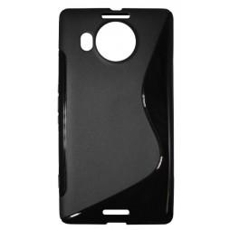 Microsoft Lumia 950 XL - Gumiran ovitek (TPU) - črn SLine