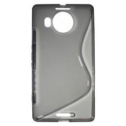 Microsoft Lumia 950 XL - Gumiran ovitek (TPU) - sivo-prosojen SLine