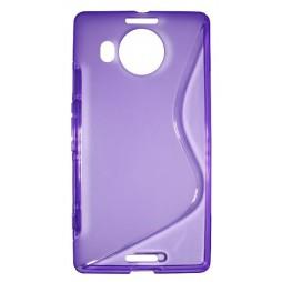 Microsoft Lumia 950 XL - Gumiran ovitek (TPU) - vijolično-prosojen SLine