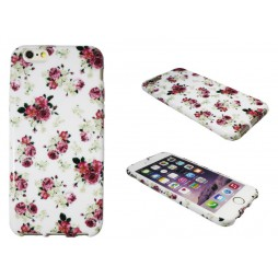 Apple iPhone 6/6S - Gumiran ovitek (TPUP) - Flowers