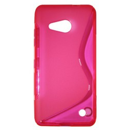 Microsoft Lumia 550 - Gumiran ovitek (TPU) - roza-prosojen SLine