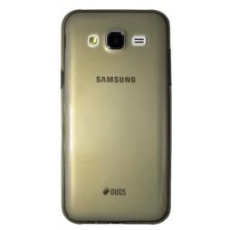 Samsung Galaxy J5 - Gumiran ovitek (TPUA) - sivo-prosojen