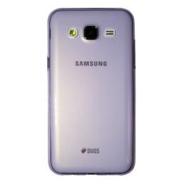 Samsung Galaxy J5 - Gumiran ovitek (TPUA) - vijolično-prosojen
