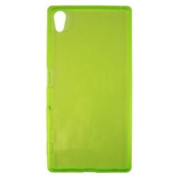 Sony Xperia Z5 - Gumiran ovitek (TPUA) - zeleno-prosojen