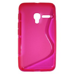 Alcatel Pixi 3 4.0 - Gumiran ovitek (TPU) - roza-prosojen SLine