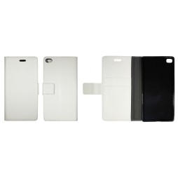 Huawei P8 Lite - Preklopna torbica (WLG) - bela