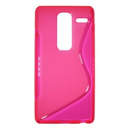 LG Zero - Gumiran ovitek (TPU) - roza-prosojen SLine