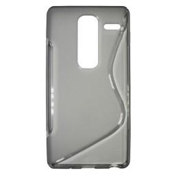 LG Zero - Gumiran ovitek (TPU) - sivo-prosojen SLine