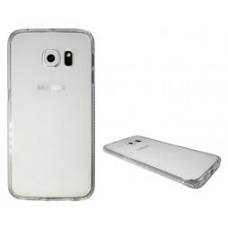 Samsung Galaxy S6 Edge - Gumiran ovitek (TPUD) - rob bel