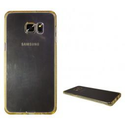 Samsung Galaxy S6 Edge Plus - Gumiran ovitek (TPUD) - rob oranžen