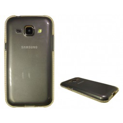Samsung Galaxy J1 - Gumiran ovitek (TPUD) - rob oranžen