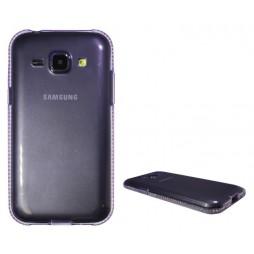 Samsung Galaxy J1 - Gumiran ovitek (TPUD) - rob vijoličen