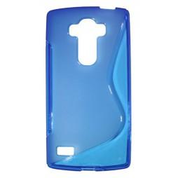 LG G4s Beat - Gumiran ovitek (TPU) - modro-prosojen SLine