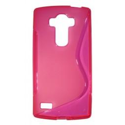 LG G4s Beat - Gumiran ovitek (TPU) - roza-prosojen SLine