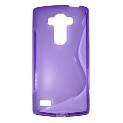 LG G4s Beat - Gumiran ovitek (TPU) - vijolično-prosojen SLine