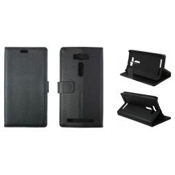 Asus Zenfone 2 Laser - Preklopna torbica (WL) - črna