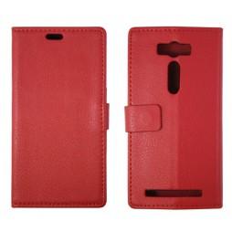 Asus Zenfone 2 Laser - Preklopna torbica (WL) - rdeča