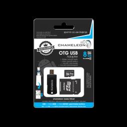 OTG USB adapter in čitalec MicroSD kartic 8GB (class 6)