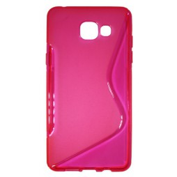 Samsung Galaxy A5 (2016) - Gumiran ovitek (TPU) - roza-prosojen SLine