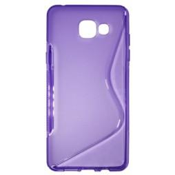 Samsung Galaxy A5 (2016) - Gumiran ovitek (TPU) - vijolično-prosojen SLine
