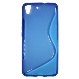 Huawei Y6 - Gumiran ovitek (TPU) - modro-prosojen SLine