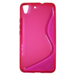 Huawei Y6 - Gumiran ovitek (TPU) - roza-prosojen SLine