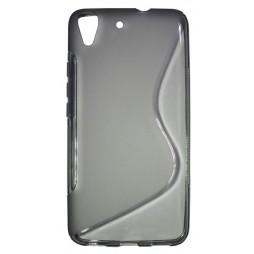 Huawei Y6 - Gumiran ovitek (TPU) - sivo-prosojen SLine