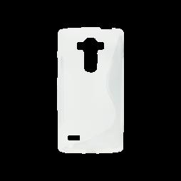 LG G4s Beat - Gumiran ovitek (TPU) - belo-prosojen SLine