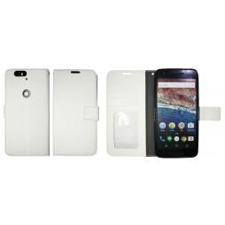 Huawei Nexus 6P - Preklopna torbica (WLG) - bela