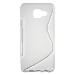 Samsung Galaxy A3 (2016) - Gumiran ovitek (TPU) - belo-prosojen SLine