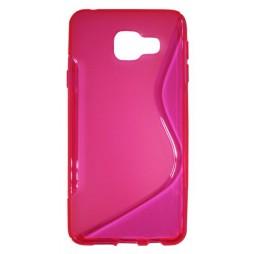 Samsung Galaxy A3 (2016) - Gumiran ovitek (TPU) - roza-prosojen SLine