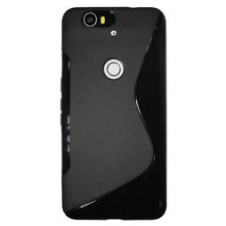 Huawei Nexus 6P - Gumiran ovitek (TPU) - črn SLine
