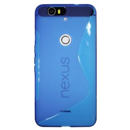 Huawei Nexus 6P - Gumiran ovitek (TPU) - modro-prosojen SLine