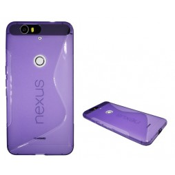 Huawei Nexus 6P - Gumiran ovitek (TPU) - vijolično-prosojen SLine
