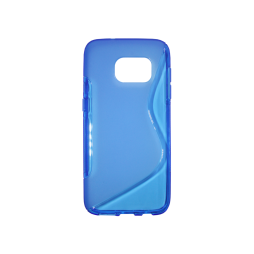 Samsung Galaxy S7 - Gumiran ovitek (TPU) - modro-prosojen SLine