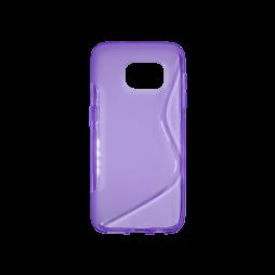 Samsung Galaxy S7 - Gumiran ovitek (TPU) - vijolično-prosojen SLine