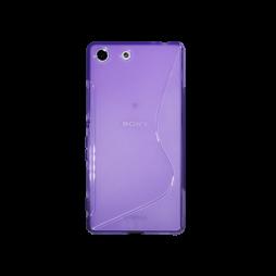Sony Xperia M5 - Gumiran ovitek (TPU) - vijolično-prosojen SLine