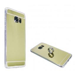 Samsung Galaxy S6 Edge Plus - Gumiran ovitek (TPUE) - ogledalo zlato