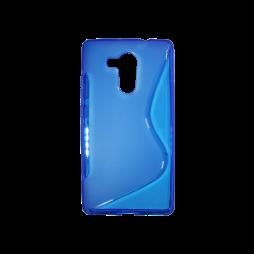Huawei Mate 8 - Gumiran ovitek (TPU) - modro-prosojen SLine
