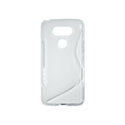 LG G5/G5 SE - Gumiran ovitek (TPU) - belo-prosojen SLine