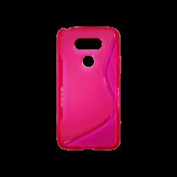 LG G5/G5 SE - Gumiran ovitek (TPU) - roza-prosojen SLine