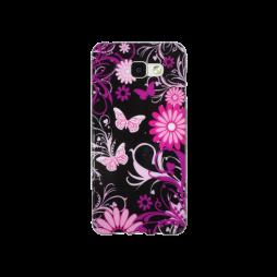 Samsung Galaxy A5 (2016) - Gumiran ovitek (TPUP) - Pinky flowers dark