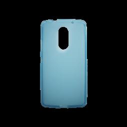 Lenovo Vibe X3 - Gumiran ovitek (TPU) - modro-prosojen mat