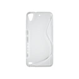 HTC Desire 530/630 - Gumiran ovitek (TPU) - belo-prosojen SLine