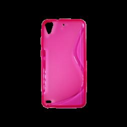 HTC Desire 530/630 - Gumiran ovitek (TPU) - roza-prosojen SLine