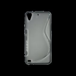 HTC Desire 530/630 - Gumiran ovitek (TPU) - sivo-prosojen SLine