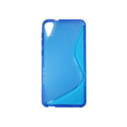HTC Desire 825 - Gumiran ovitek (TPU) - modro-prosojen SLine