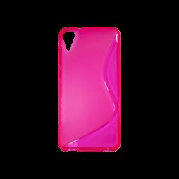HTC Desire 825 - Gumiran ovitek (TPU) - roza-prosojen SLine